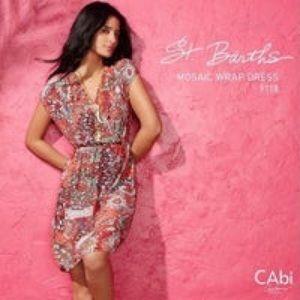 CAbi St. Barth's Collection Mosaic Print Dress